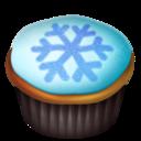 snowflake,cupcake icon