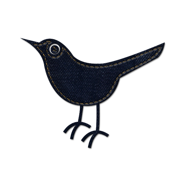 twitter, social network, social, sn, animal, denim, jean, bird icon