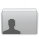 folder,user,graphite icon