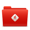red, soda, new, common, folder icon