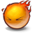 on fire, fire icon
