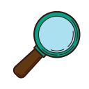 analysis, business, research, set, magnifier, graphic, strategy icon