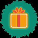 gift, christmas, xmas, wreath icon
