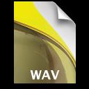 sb document secondary audio wav icon