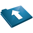 Arrow, Blue, Folder, Up, Upload icon