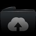 Black, Folder, Upload, Web icon
