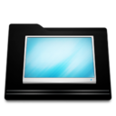 black,folder,desktop icon