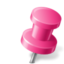 Map, Marker, Pin, Pink, Push, Right icon