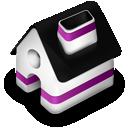 home, purple icon
