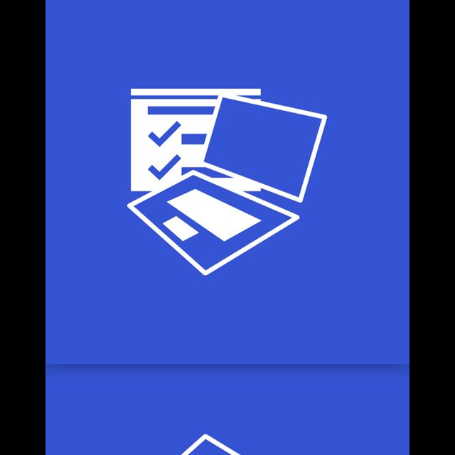 mobility, window, center, mirror icon