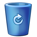 bin blue full icon