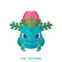 kanto, grass, pokemon, ivysaur icon