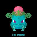 kanto, grass, pokemon, ivysaur icon