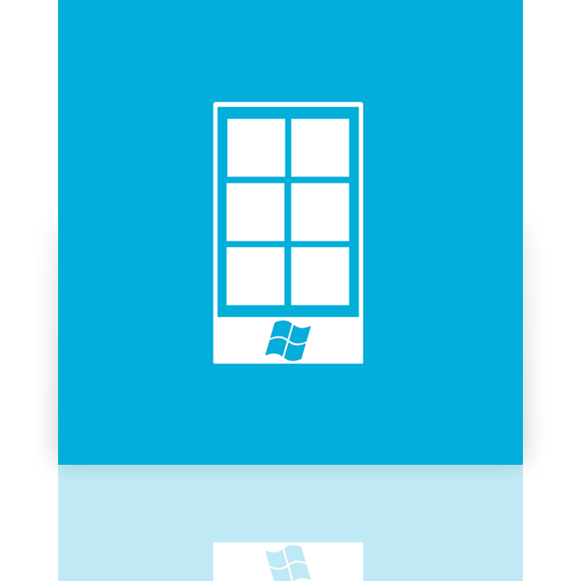 mirror, phone, window icon
