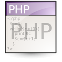 document, php, file icon