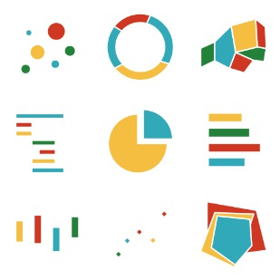 Charts and diagrams 1 icon sets preview