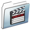 video, film, smooth, movie, graphite, folder icon