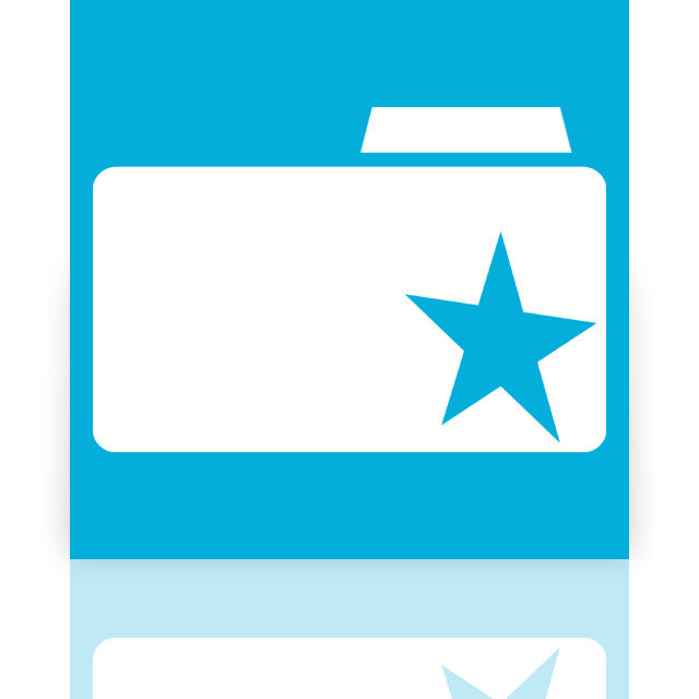 mirror, bookmarks, folder icon