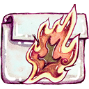 folder, burnable icon