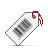 white, tag, barcode icon